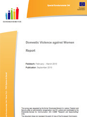 Domestic violence against women - report Eurobarometer 2010 - scr