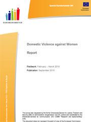 Domestic violence against women - report Eurobarometer 2010 - scr