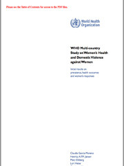 WHO - Multi-country study on women's health and domestic violence against women - 2012 - scr